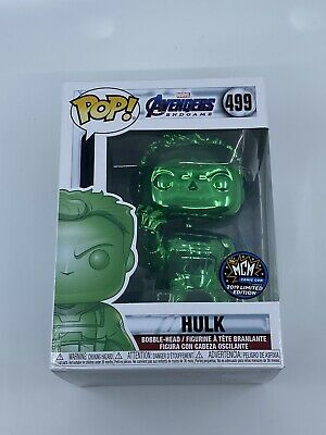 Funko POP! Vinyl MCM Exclusive Avengers End Game Green Chrome Hulk Figure